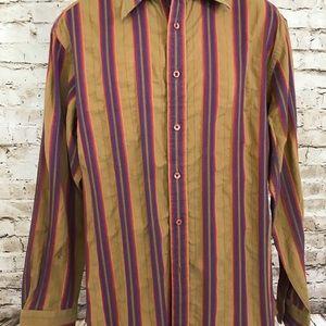 Robert Graham Shirts - Robert Graham Mens Shirt Sz L Contrast Collar Cuff